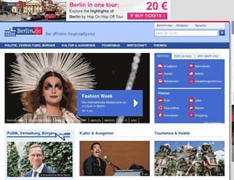 Main page screenshot of berlin.de