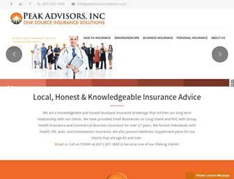 peakinsuranceadvisors.com screenshot
