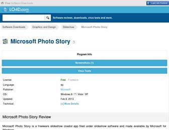 microsoft-photo-story.en.lo4d.com screenshot