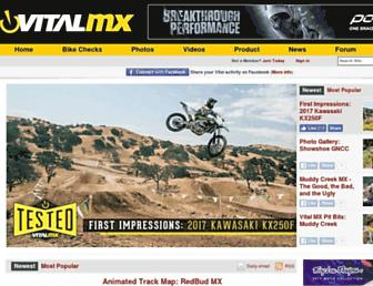vitalmx.com screenshot