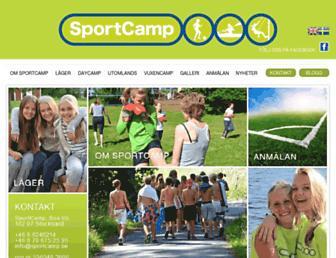 sportcamp.se screenshot