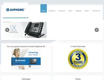 aiphone.co.uk screenshot