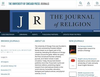 journals.uchicago.edu screenshot
