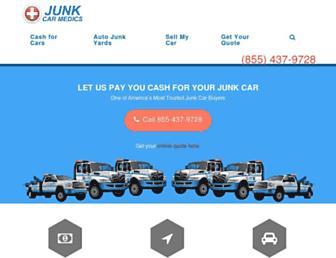 junkcarmedics.com screenshot
