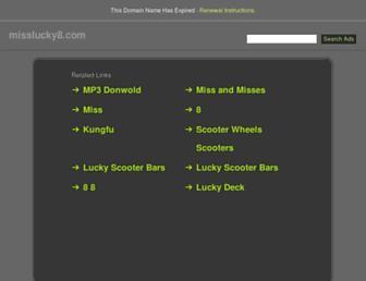 misslucky8.com screenshot