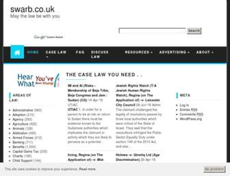 swarb.co.uk screenshot