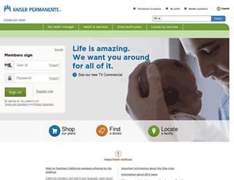 healthy.kaiserpermanente.org screenshot