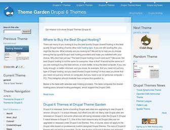 Main page screenshot of themegarden.org