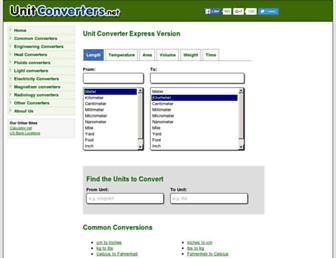 unitconverters.net screenshot