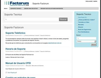 soporte.factorum.com.mx screenshot