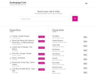 gudanglagu7.info screenshot