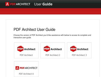 userguide.pdfarchitect.org screenshot