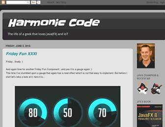 harmoniccode.blogspot.com screenshot
