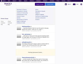 groups.yahoo.com screenshot