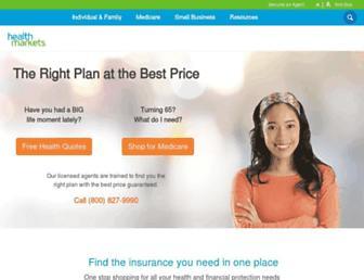 healthmarkets.com screenshot