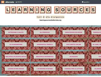 learningsources.altervista.org screenshot