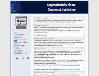 Main page screenshot of monitorniel.be