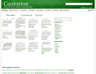 Main page screenshot of cantorion.org