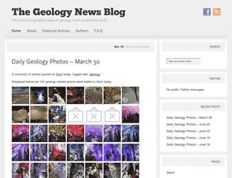 Main page screenshot of geology.rockbandit.net