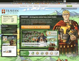 Main page screenshot of travian.cz