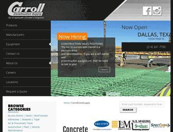 carrollsupply.com screenshot