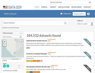 catalog.data.gov screenshot