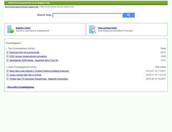 support.windenvironmental.com screenshot