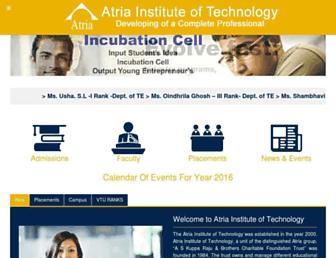 atria.edu screenshot