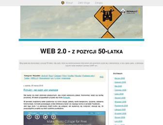 Main page screenshot of jacek50.blox.pl