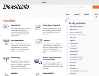 showsiteinfo.net screenshot