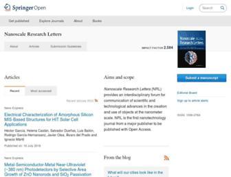 nanoscalereslett.com screenshot
