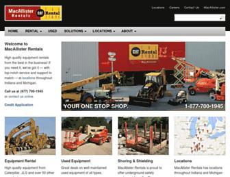 macallisterrentals.com screenshot