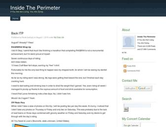Main page screenshot of insidetheperimeter.net