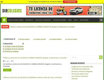 dircolegios.com screenshot