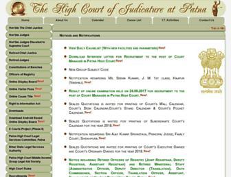 patnahighcourt.gov.in screenshot