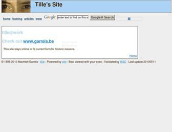 tille.garrels.be screenshot