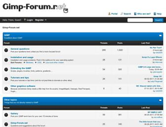 gimp-forum.net screenshot