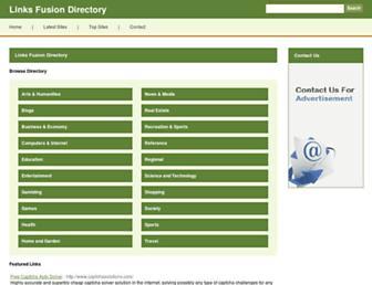 Main page screenshot of linksfusion.org