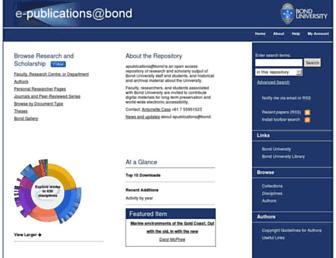 epublications.bond.edu.au screenshot