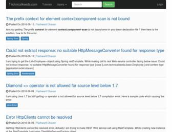 Thumbshot of Technicalkeeda.com