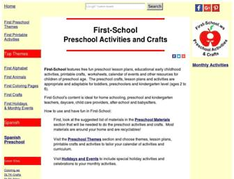 Main page screenshot of first-school.ws