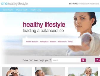 Thumbshot of Onehealthylifestyle.com