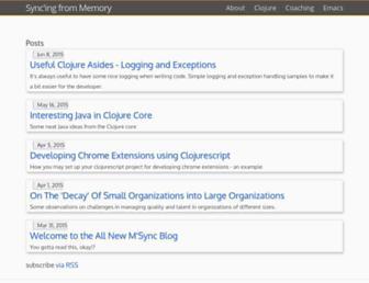 Main page screenshot of msync.org