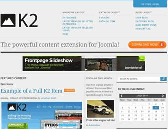 demo.getk2.org screenshot