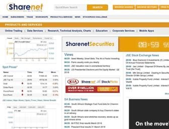 Thumbshot of Sharenet.co.za