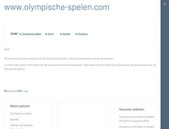 Thumbshot of Olympische-spelen.com