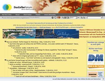 Main page screenshot of dasgelbeforum.de.org