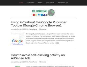 bloggingglobal.com screenshot