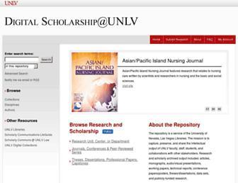digitalscholarship.unlv.edu screenshot