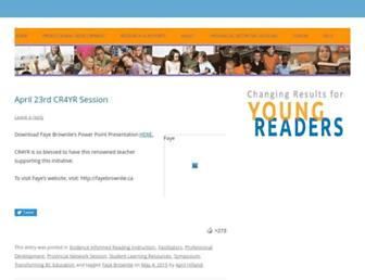 Main page screenshot of youngreaders.ca
